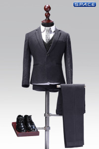 1/6 Scale grey exquisite three-piece Male Suit Set