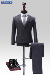 1/6 Scale grey exquisite Male Suit Set