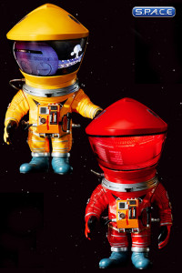 Red & Yellow Astronaut Deformed Real Series Vinyl Statues 2-Pack (2001: A Space Odyssey)