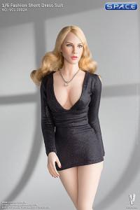 1/6 Scale black Short Dress Set