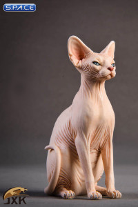 1/6 Scale pale Canadian Hairless Cat