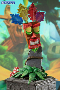 Aku Aku Mask Mini-Statue (Crash Bandicoot)