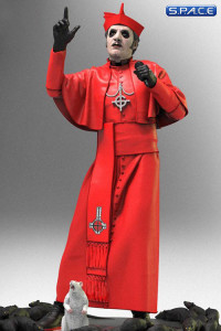 Cardinal Copia in red Cassock Rock Iconz Statue (Ghost)