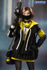1/6 Scale »Fighting Girl« black Clothing Set
