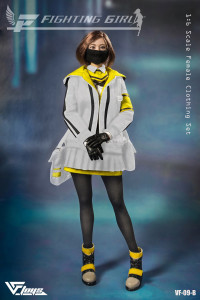 1/6 Scale »Fighting Girl« white Clothing Set