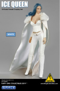 1/6 Scale Ice Queen white Cosplay Clothing Set Ver. 2.0