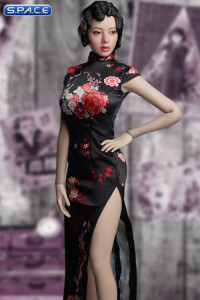 1/6 Scale black Shanghai Nightclub Singer Cosplay Set