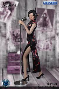 1/6 Scale black Shanghai Nightclub Singer Cosplay Set
