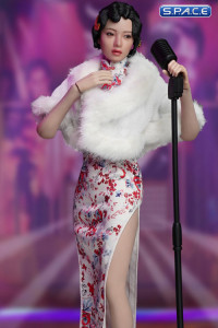1/6 Scale white Shanghai Nightclub Singer Cosplay Set