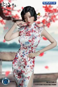 1/6 Scale white Shanghai Nightclub Singer Cosplay Set
