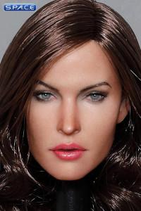 1/6 Scale Claudia Head Sculpt (curly dark brown hair)