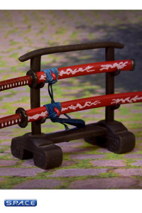 1/6 Scale red Samurai Sword with Rack
