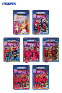 7er Komplettsatz: MOTU ReAction Figures Wave 5 (Masters of the Universe)