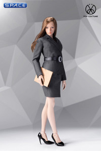 1/6 Scale grey female Office Lady Set with Skirt