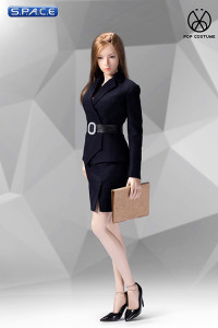 1/6 Scale blue female Office Lady Set with Skirt