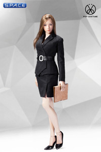 1/6 Scale black female Office Lady Set with Skirt