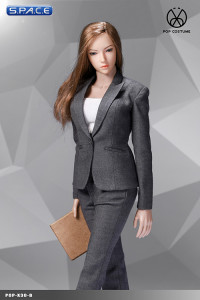 1/6 Scale grey female Office Lady Set with Pants