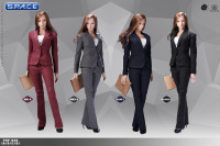 1/6 Scale black female Office Lady Set with Pants