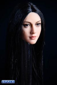 1/6 Scale Anna Head Sculpt (black eyes / black hair)