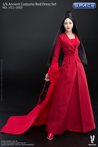 1/6 Scale Ancient Costume Red Dress Set