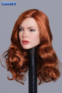 1/6 Scale Olga Head Sculpt (long copper hair)