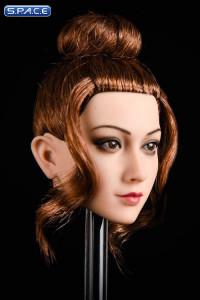 1/6 Scale Jasmine Head Sculpt (short brown bun)
