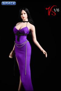 1/6 Scale purple Party Dress