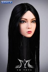 1/6 Scale Rose Head Sculpt (straight long black hair)