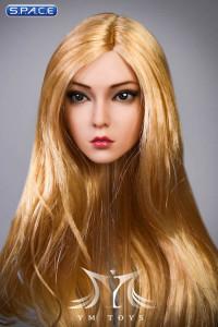 1/6 Scale Rose Head Sculpt (curly long golden hair)