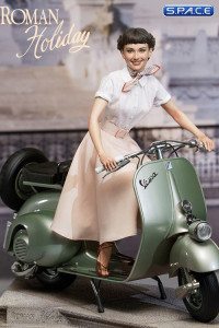 1/4 Scale Princess Ann & 1951 Vespa 125 Statue (Roman Holiday)