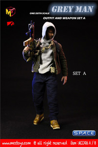 1/6 Scale Grey Man Outfit and Weapon Set A