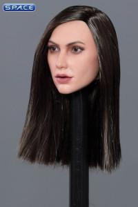 1/6 Scale Victoria Head Sculpt (log black hair)