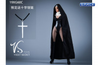 1/6 Scale Nun Leather Clothing Set with bodysuit