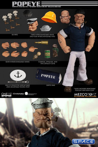 1/12 Scale Popeye & Bluto One:12 Collective »Stormy Seas Ahead« Deluxe Box Set (Popeye)
