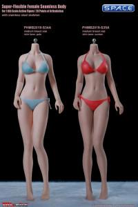 1/6 Scale female super-flexible seamless pale Body with medium breast / headless