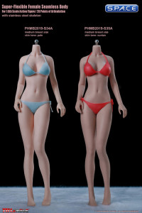 1/6 Scale female super-flexible seamless suntan Body with medium breast / headless