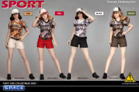 1/6 Scale Female Clothing Set with shorts (red)