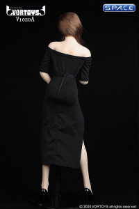 1/6 Scale shoulder-free body with pencil skirt (black)