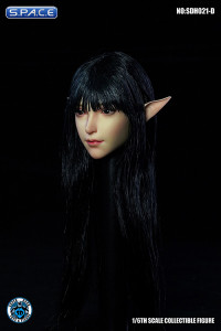 1/6 Scale Valaina Head Sculpt (long black hair)