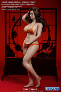 1/6 Scale female super-flexible seamless curvy suntan Body with large breast and head sculpt