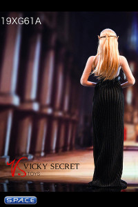 1/6 Scale backless Evening Dress (black)