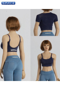 1/6 Scale two-piece Yoga Suit (blue)