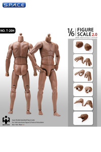 1/6 Scale male super-flexible Afro American Basketball Players Body with Head connector