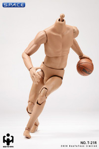 1/6 Scale male super-flexible Caucasian Basketball Players Body with modelled neck