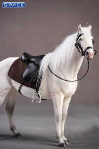 1/12 Scale white Hanoverian Horse
