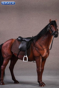 1/12 Scale brown Hanoverian Horse