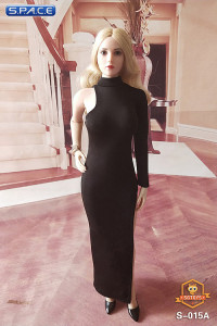 1/6 Scale One-Shoulder Evening Dress (black)