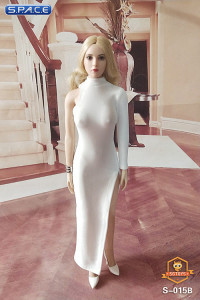 1/6 Scale One-Shoulder Evening Dress (white)