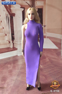 1/6 Scale One-Shoulder Evening Dress (lilac)