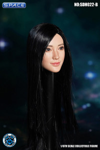 1/6 Scale Misaki Head Sculpt (long black hair)